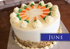 JUNE – Traditional Walnut & Cream Cheese Topped Carrot Cake