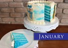 JANUARY – Blue Velvet w/Cream Cheese Frosting & Snowmen Cookies