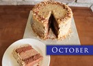 OCTOBER – Old World German Chocolate Cake w/Cheesecake Layer
