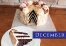 DECEMBER – White Chocolate Peppermint Mousse Chocolate Cake